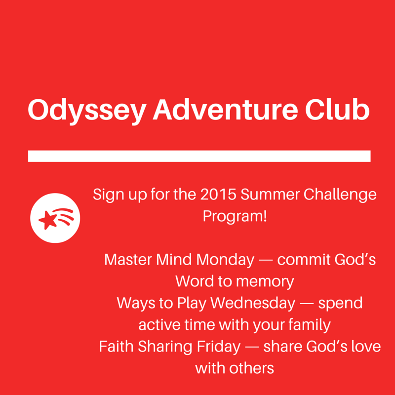 Join Odyssey Adventure Club For A Summer Challenge Heart