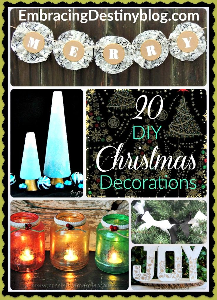 20 DIY Christmas Decorations to inspire your creativity. Day 3 of 5 Days of a Homemade Christmas at heartandsoulhomeschooling.com