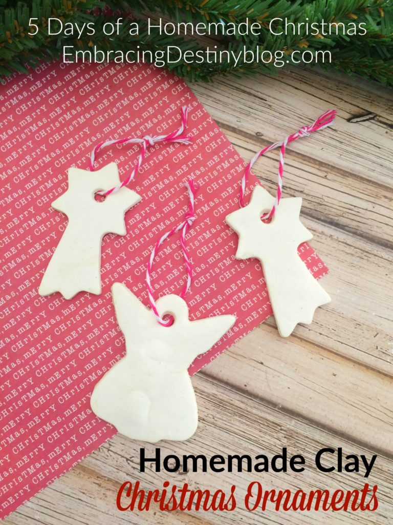 Homemade Clay DIY Christmas Ornaments ~ step by step with photos showing how to make these