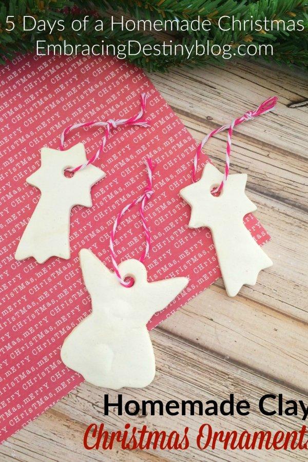 Homemade Clay DIY Christmas Ornaments