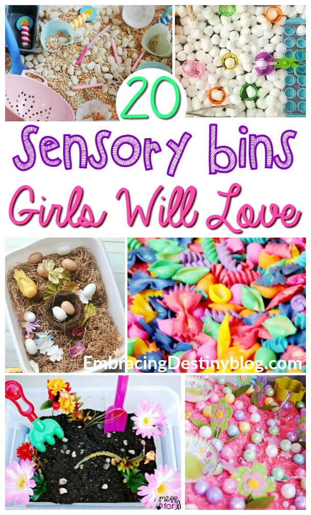 20+ sensory bins for girls. Adorable themes, including ponies, flowers, princesses, and more! Perfect for hands-on homeschooling. heartandsoulhomeschooling.com