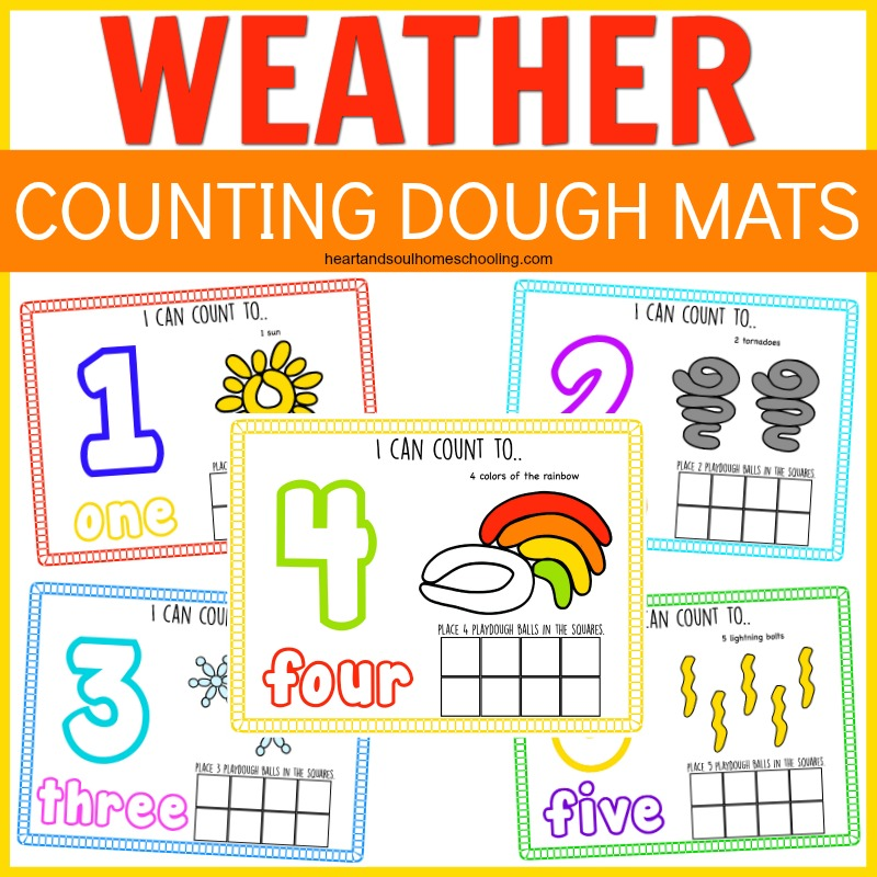 Weather counting dough mats