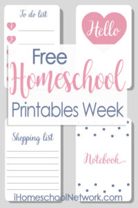 iHomeschool Network printables