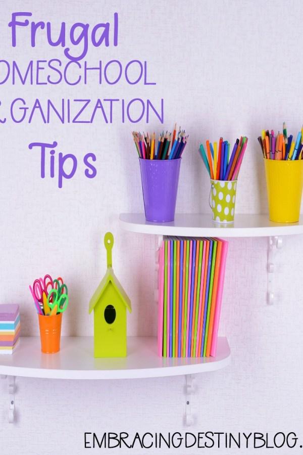 Frugal Homeschool Organization Tips using Dollar Tree Supplies