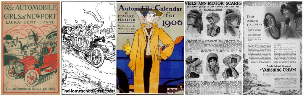 aunt claire presents automobile girls at newport | vintage historical fiction