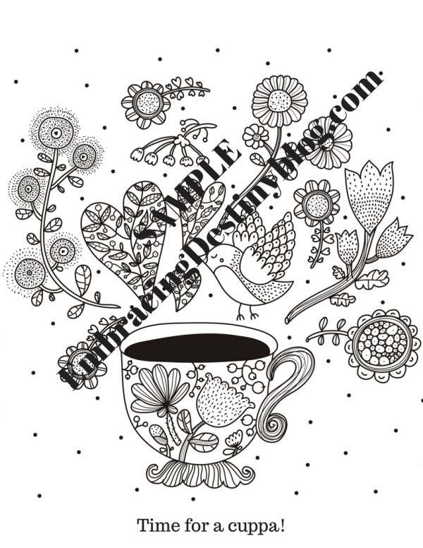 Mom's Quiet Time Journal sample coloring page