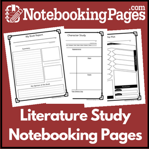 Literature Study Notebooking Pages