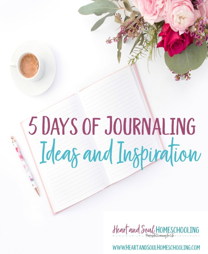5 Days of Journaling Ideas and Inspiration series