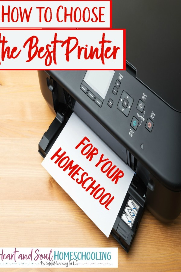 How to Choose the Best Printer for Your Homeschool