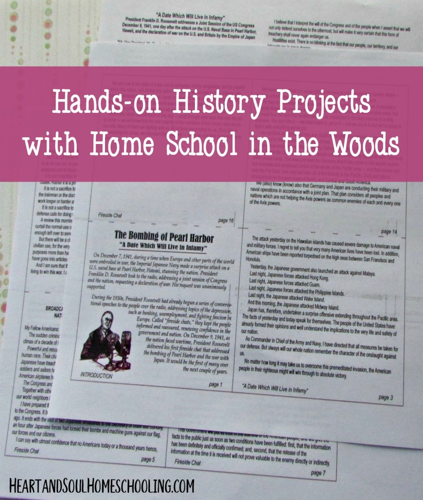 hands-on history projects from Home School in the Woods