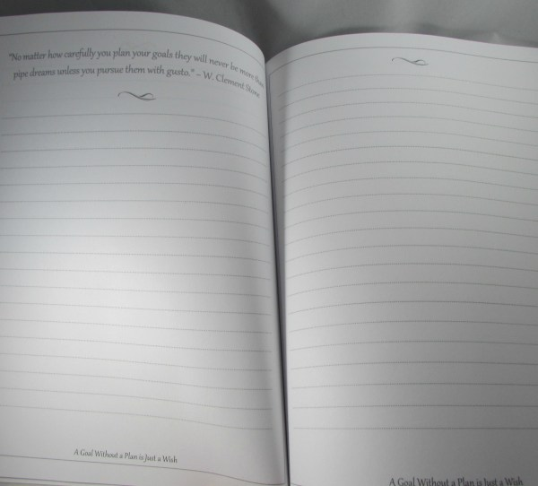inside pages goals planning journal