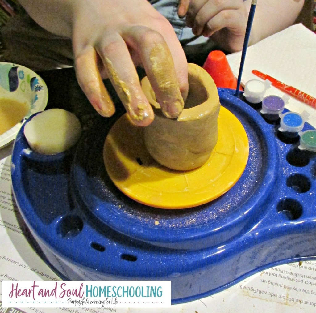 homeschooling creative girls | how to homeschool creatively | pottery wheel