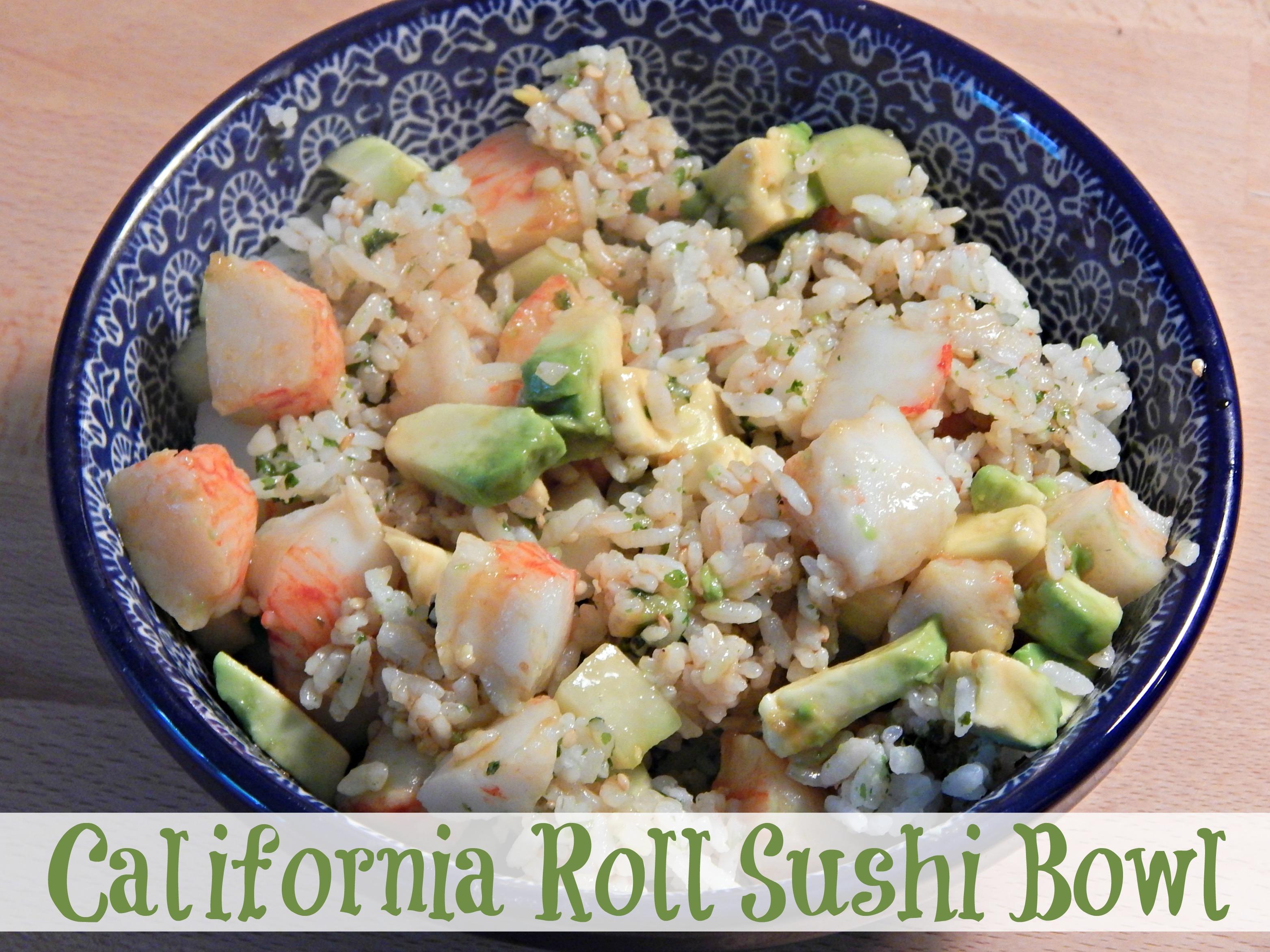 California Roll Sushi Bowl Final