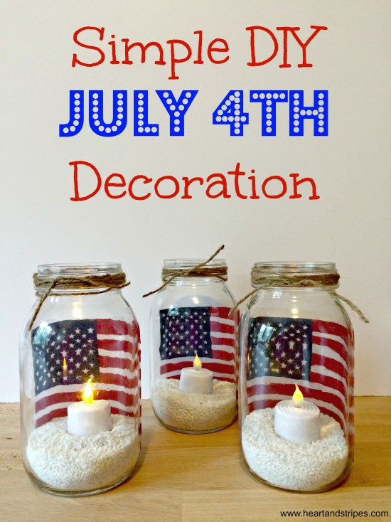 Simple DIY July 4th Decoration Feature