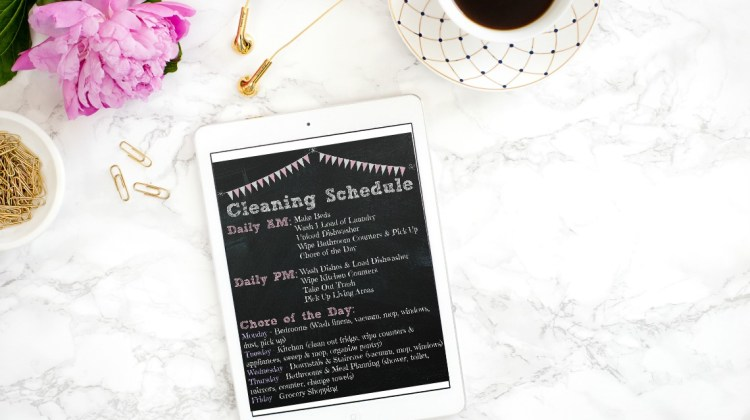 Weekly Cleaning Schedule: Free Printable