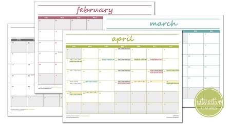 Elegant Monthly Calendar