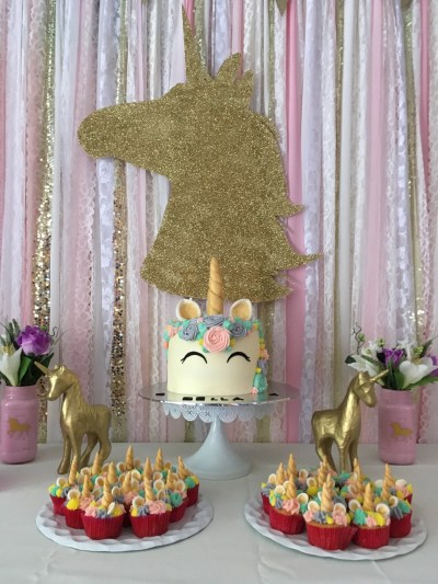 Magical Unicorn Themed Party - Heart and Stripes