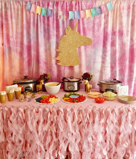 Magical Unicorn Themed Party - Food Table Decorations