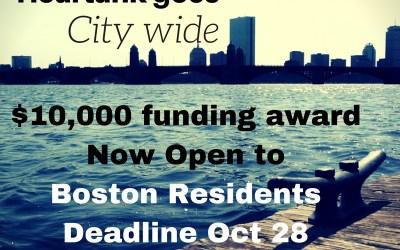 Heartank goes City Wide! Deadline October 28