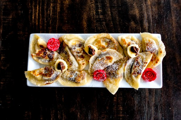 Banana and Nutella Potstickers