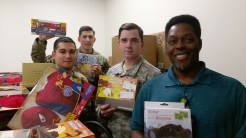 Toys dropped off with the WTB in JBLM. The Director Eddie, 2LT J Todd, and the soldiers helped unload the vehicle. As you can see, we fill the 12x12 office completely.