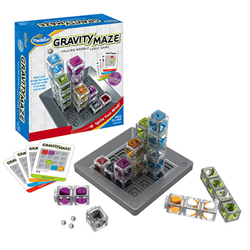 A fun game for the whole family it's the falling marble logic game Gravity Maze by Thinkfun