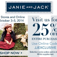 Janie and Jack 25% off Friends and Family Sale