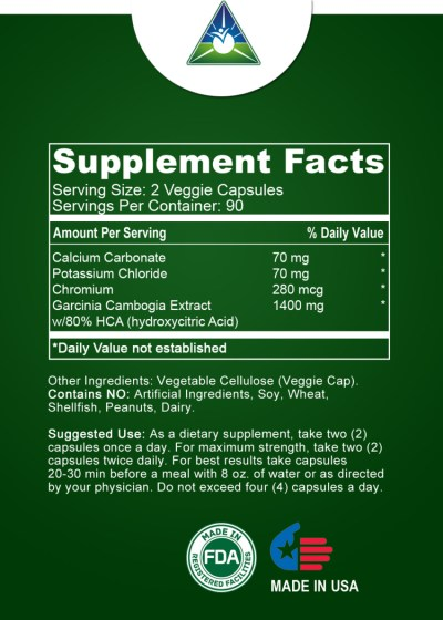Ingredients in Garcinia Cambogia Supreme