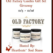 Old Factory Candles Gift Set Giveaway