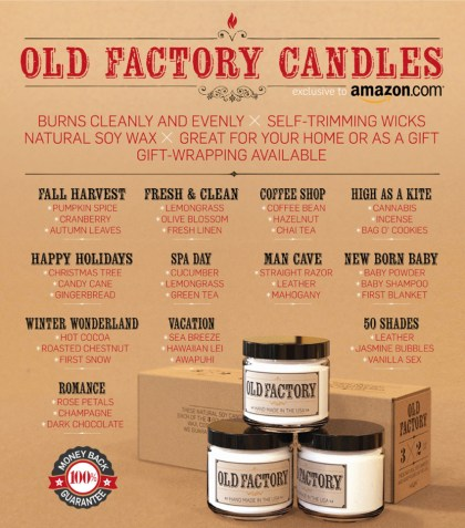 Old Factory Candles Themed gift Sets