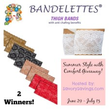 Comfort with Summer Style Bandelettes Giveaway