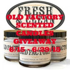 Old Factory Scented Candles Giveaway
