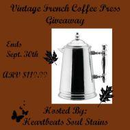 Vintage French Coffee Press Giveaway + Hop #FallingForPrizes