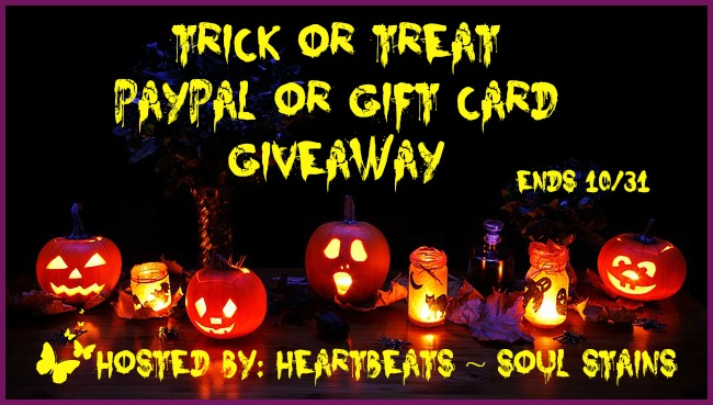 Trick or Treat PayPal or Gift Card Giveaway