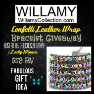 Willamy Collection Confetti Leather Wrap Bracelet Giveaway #willamycollection