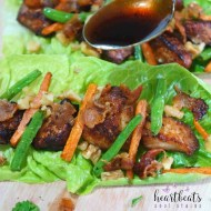Chicken And Bacon Lettuce Cups with Balsamic Glaze