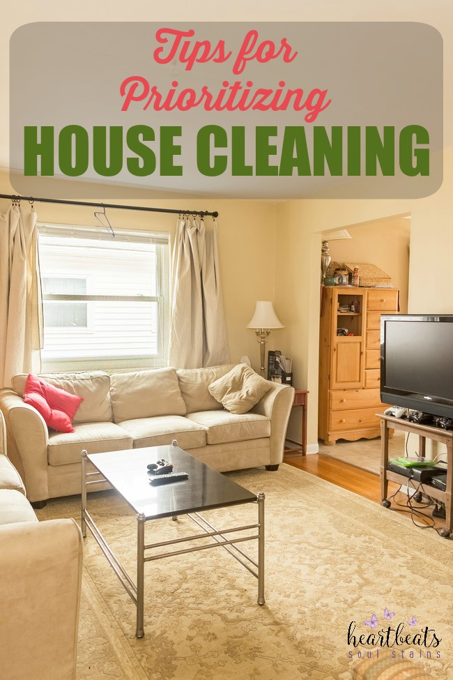 If you are like us you are looking for what Priorities to focus on in order to Keep Your Home Clean.  There are tips and tricks for doing this.
