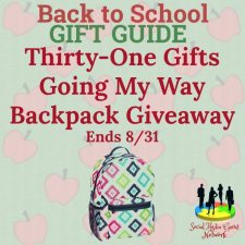 Thirty-One Gifts Going My Way Backpack Giveaway