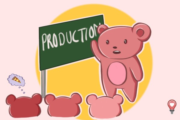 This little cartoon bear doesn't think he's struggling with production challenges with content, but is it the right content he's producing?