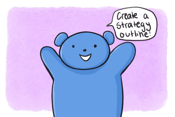 email sequence strategy and outline cartoon bear