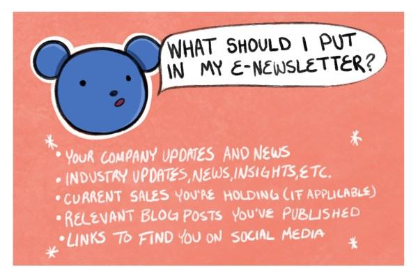 send an e-newsletter digital marketing from home