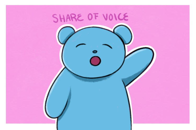 the bigger your share of voice, the more brand awareness you gain