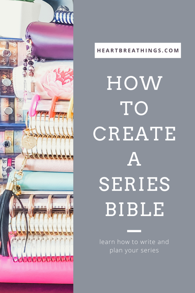 How to create a series bible for your novels.