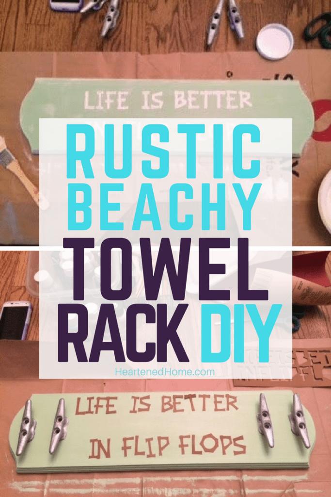 rustic coastal towel rack diy life is