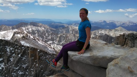 Kris on Mount Whitney