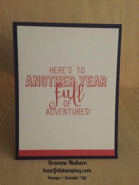 Stampin Up Balloon Adventures Birthday card ideas - Rosanne Mulhern stampinup