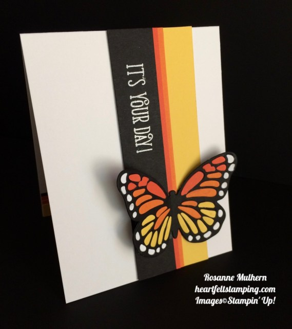 Stampin Up Bold Butterfly Birthday Card - Rosanne Mulhern