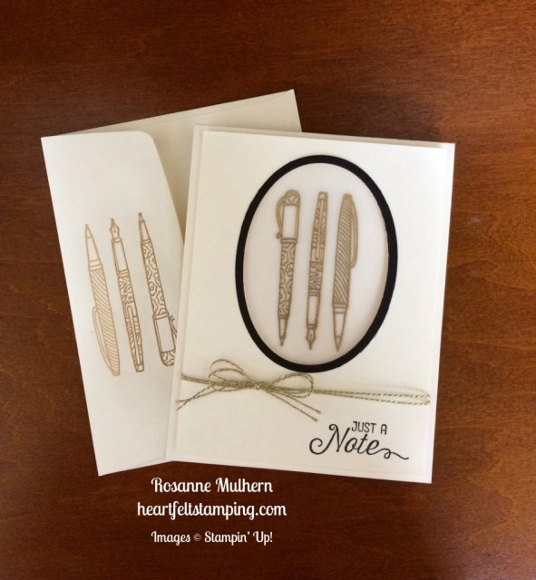 Stampin Up Crafting Forever Note Card - Rosanne Mulhern