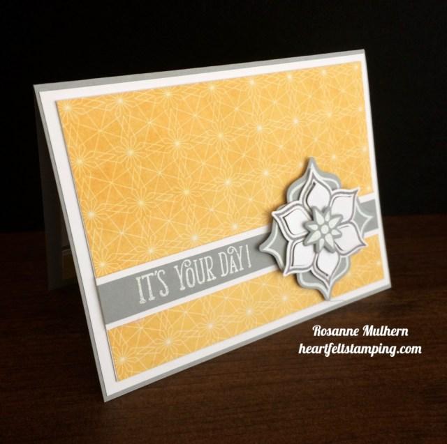Stampin Up Eastern Medallion Birthday Card Idea - Rosanne Mulhern stampinup