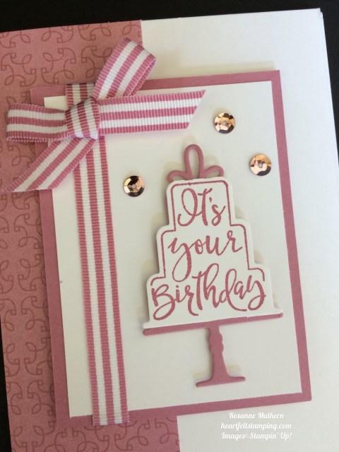 Stampin Up Celebration Time Birthday Cards Idea- Rosanne Mulhern